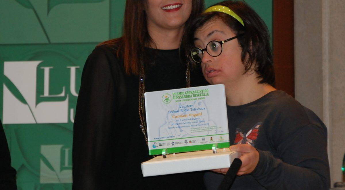 Carmen Vogani vince il Premio Alessandra Bisceglia per il suo servizio su Nemo, nessuno escluso di Rai2
